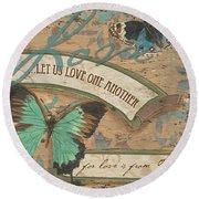Wings Of Love Round Beach Towel