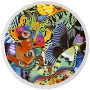 Wings Of The World Round Beach Towel