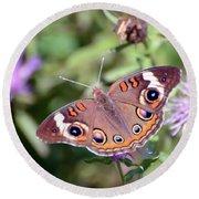 Wings Of Wonder - Common Buckeye Butterfly Round Beach Towel