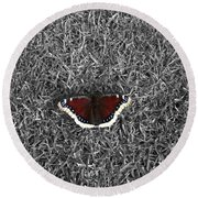 Wings On Grass Round Beach Towel