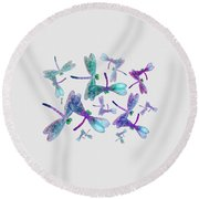 Wings Shirt Image Round Beach Towel