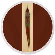 Winky The Palm Frond Round Beach Towel