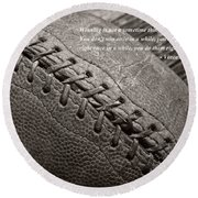 Winning Quote From Vince Lombardi Round Beach Towel