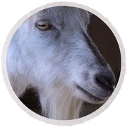Winsome Goat Round Beach Towel