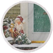 Winter - Christmas - Oh Oh Brrr Round Beach Towel