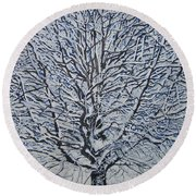 Winter '05 Round Beach Towel by Leah  Tomaino