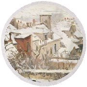 Winter, 1872  Round Beach Towel