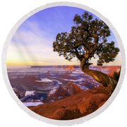 Winter At Dead Horse Round Beach Towel by Chad Dutson