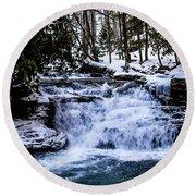 Mill Creek Falls Wv Round Beach Towel