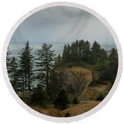 Winter At Oswald West Round Beach Towel