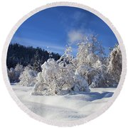 Winter Blanket Round Beach Towel