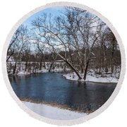 Winter Blue James River Round Beach Towel