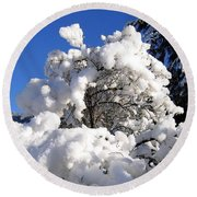 Winter Cotton Round Beach Towel