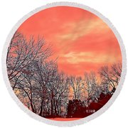 Winter Day 2 Round Beach Towel