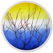 Winter Dogwood Round Beach Towel