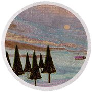 Winter Dream Round Beach Towel
