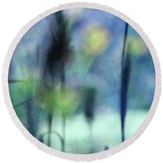Winter Dreams Abstract Round Beach Towel