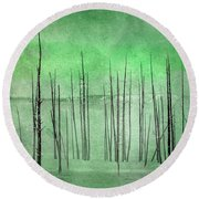 Winter Green  7913green Round Beach Towel