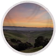 Winter Haze Round Beach Towel