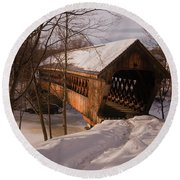 Winter Henniker Round Beach Towel