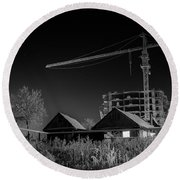 Winter Homes The Crane And The Great Plough Round Beach Towel