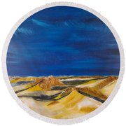 Winter Impression Of Sylt Round Beach Towel