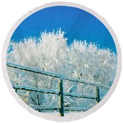 Winter Impressions Round Beach Towel