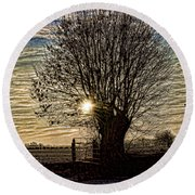 Winter In Holland 3 Round Beach Towel