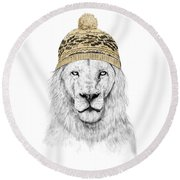 Winter Is Coming Round Beach Towel by Balazs Solti