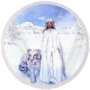 Winter Is Coming Round Beach Towel