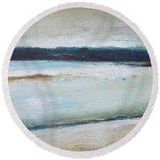 Winter Lake Round Beach Towel