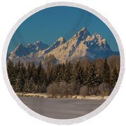 Winter Morning At The Grand Round Beach Towel