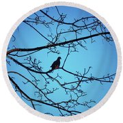 Winter Mourning Round Beach Towel
