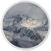 Winter On The Way Round Beach Towel