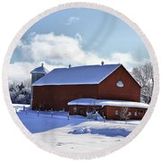 Winter Red 2010 Round Beach Towel
