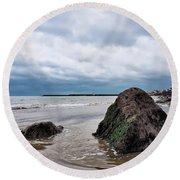 Winter Seascape - Lyme Regis Round Beach Towel