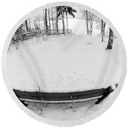 Winter Seat 1 Round Beach Towel