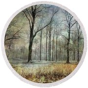 Winter Serenity Round Beach Towel