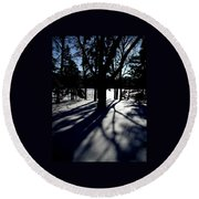 Winter Shadows 2 Round Beach Towel