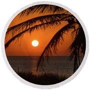 Winter Solstice Sunrise 2 Delray Beach, Florida Round Beach Towel