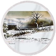 Winter Stainland Round Beach Towel