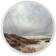 Winter Storm Clouds 2018-2289 Round Beach Towel
