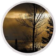 Winter Sunrise 1 Round Beach Towel
