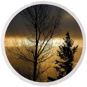 Winter Sunrise 2 Round Beach Towel
