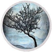 Winter Tree II Round Beach Towel