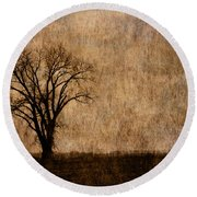 Winter Trees In The Bottomland 1 Round Beach Towel