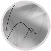 Winter Twigs Round Beach Towel