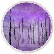 Winter Violet  7913violet Round Beach Towel