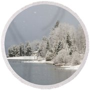 The Sound Of Silence Round Beach Towel
