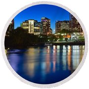 Hartford Lights Round Beach Towel
